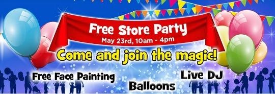 smyths free kids party pm