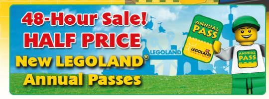 Legoland Half Price Annual Pass