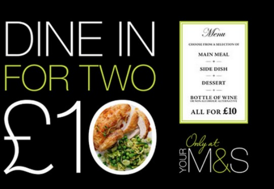 Dine In Meal For Two Deal £10 @ Marks And Spencer