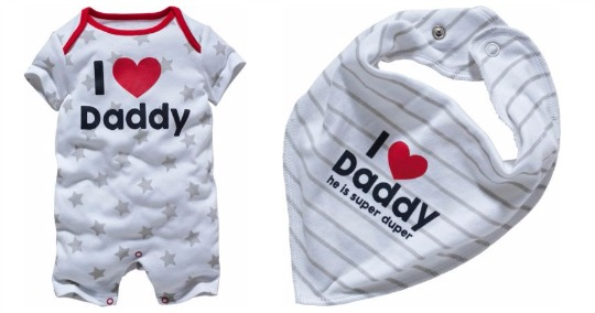 i love daddy romper and bib argos pm