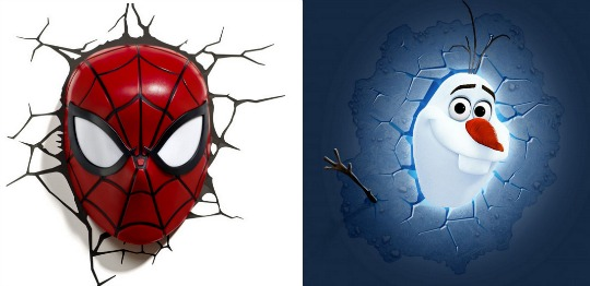 spidey olaf 3d lights pm