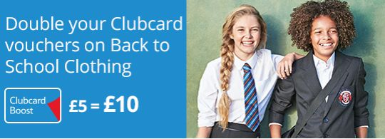 clubcard boost school uniform pm