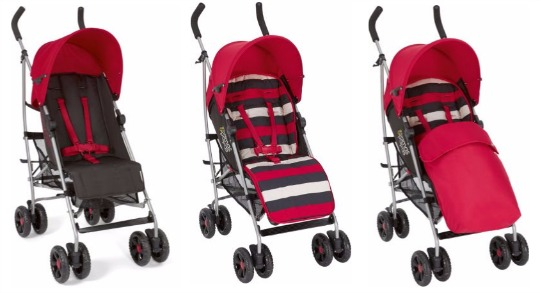 mamas & papas red stripe pushchair pm