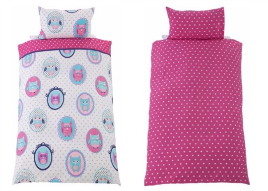 owl bedding set argos pm