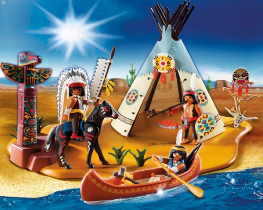 playmobil native american camp set pm