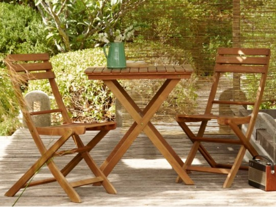 wooden two seater bistro set pm