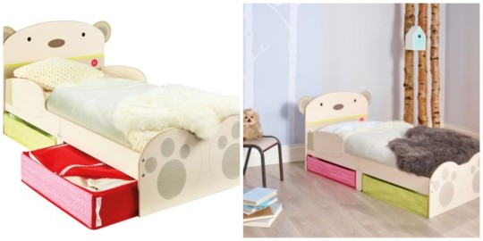 Bearhug storage toddler bed