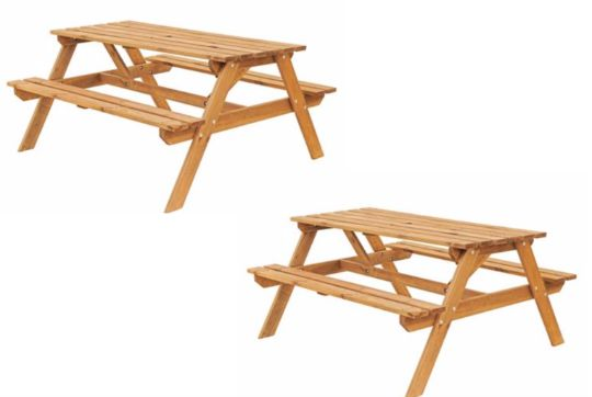Clearance Now On Batam Timber Picnic Bench 35 At Bq