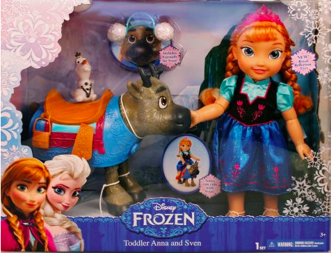 Disney Frozen Anna, Sven and Olaf Toys