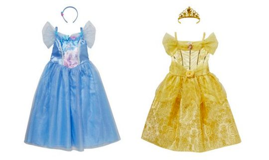 Disney Princess Cinderella or Belle Dress-Up Costumes £9 @ F&F