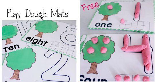 free play dough mats pm