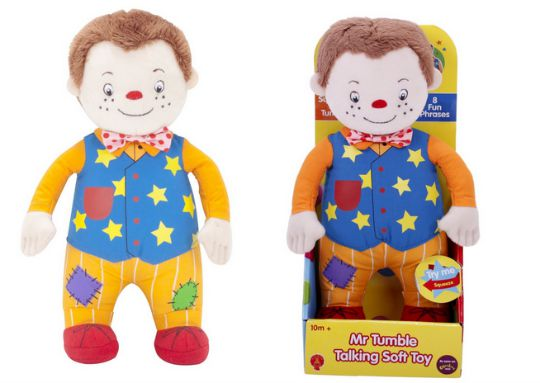 mr tumble talking soft toy pm