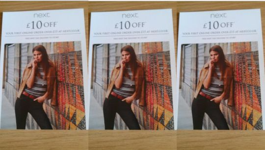 back in store 10 off a 15 spend with instore leaflet code next