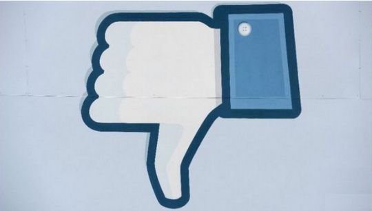 Facebook dislike button pm