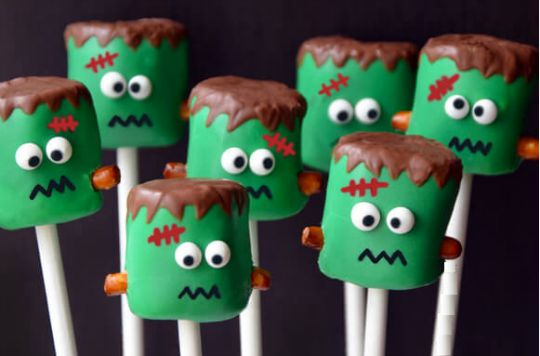 Frankenstein Marshmallow Pops 1 pm