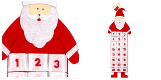 Felt Santa Advent Calendar