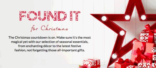 Debenhams Christmas Shop Now Open