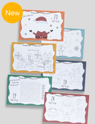 Christmas advent colour-in mats