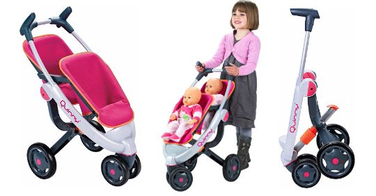 Smoby Maxi Cosi Quinny Dolls Twin Double Pushchair Buggy Stroller ...