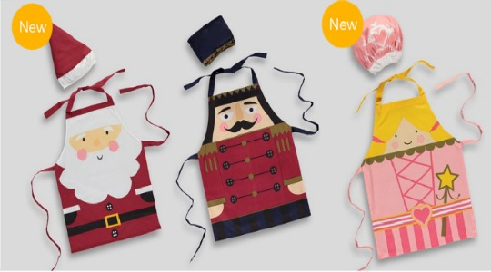 Christmas Fairy/Nutcracker/Santa Apron & Hat Set £5 @ Matalan