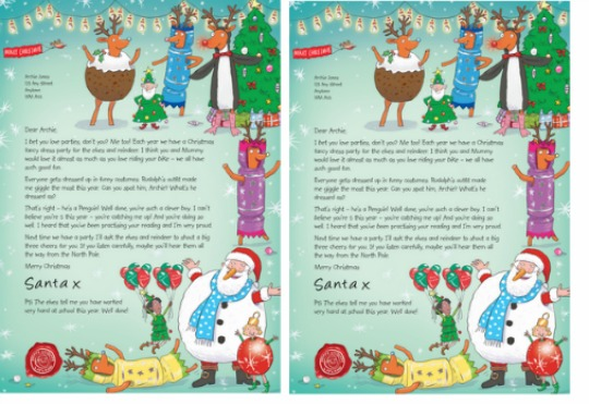 get a letter from santa donate to nspcc and get free personalised letter from santa 21942 | Letter to Santa