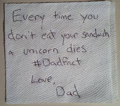 Every time you don't eat your sandwich a unicorm dies