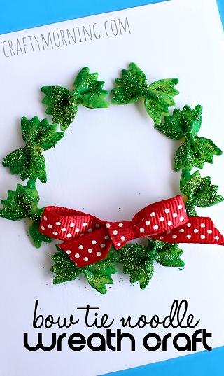 Pasta Shape Christmas Wreath Craft