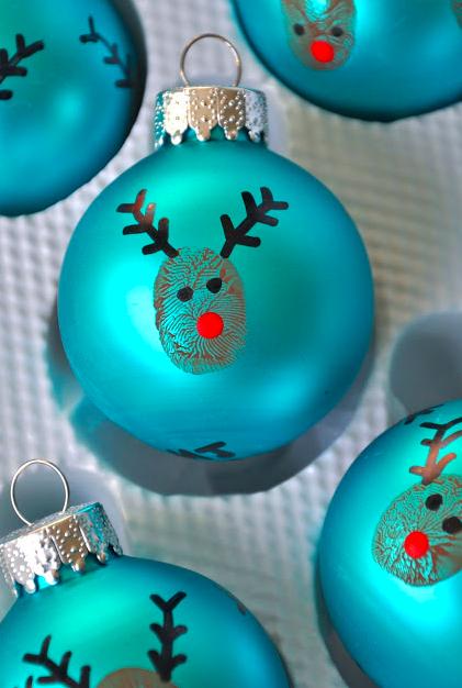 Reindeer Thumbprint Tree Decoration