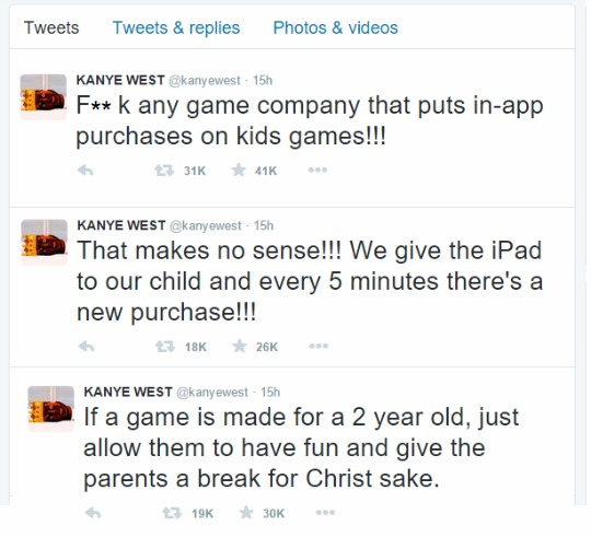 kanye west gaming tweet pm