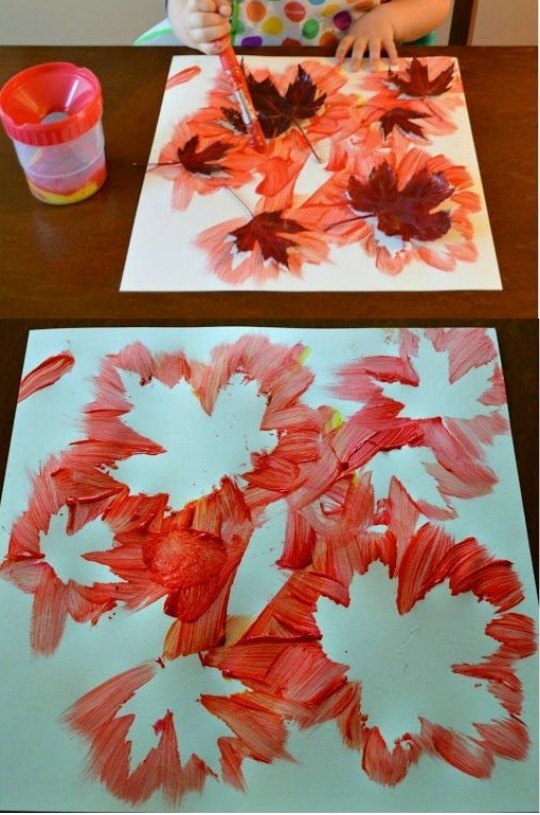 leaf painting credit minne-mama pm