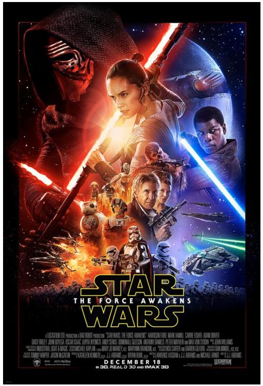new star wars poster