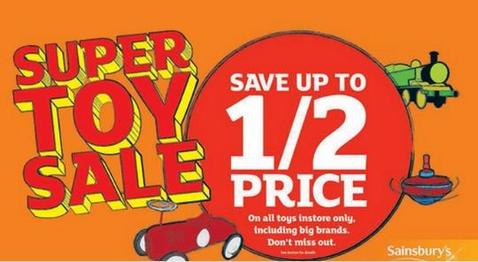 sainsburys toy sale pm