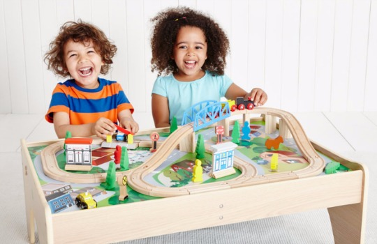wooden rail play table elc pm