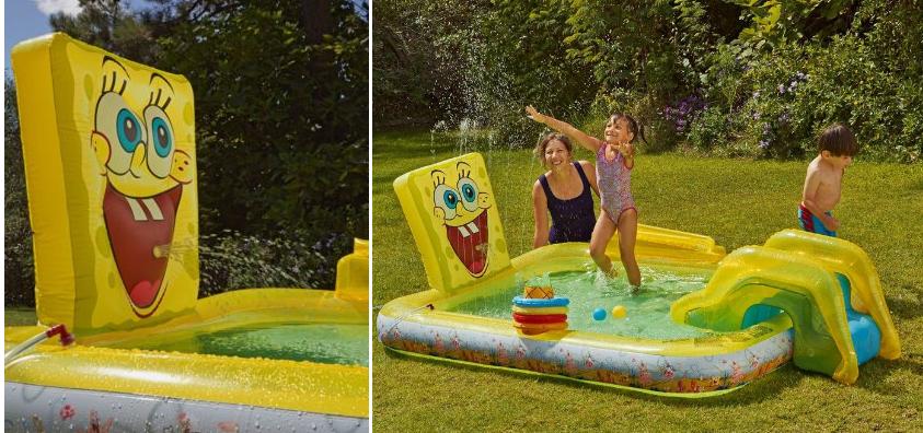 Spongebob squarepants activity pool was for Garden pool argos