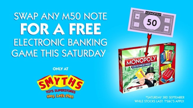 free electronic monopoly game board smyths toys expired