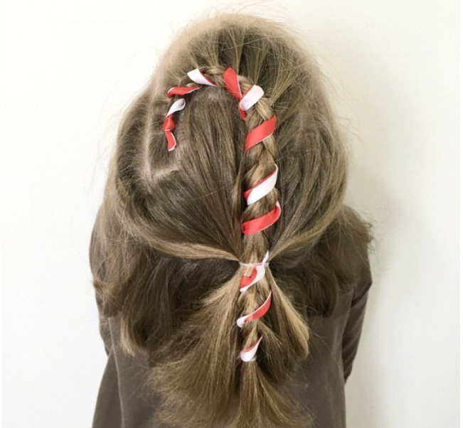 24 Easy Christmas Hairstyles For Girls (One For Each Day ...