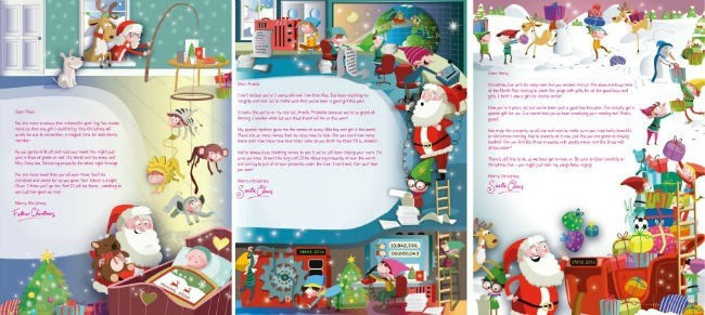 Personalised letter from santa with a donation to the nspcc spiritdancerdesigns Gallery