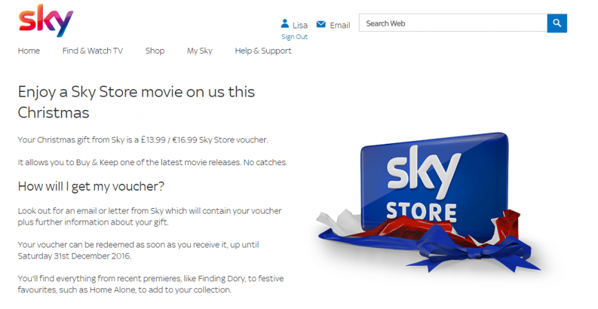 Better deals for existing sky customers