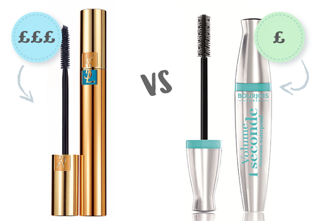 9f70b45be40 Yves Saint Laurent Volume Effet Faux Cils Waterproof Mascara* £26 from  House of Fraser Vs Bourjois Volume 1 Seconde Waterproof Mascara* £9 from  Amazon