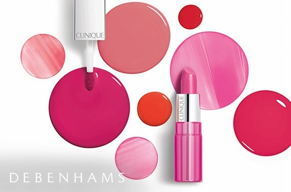 Clinique Lipsticks with splodges of colour around