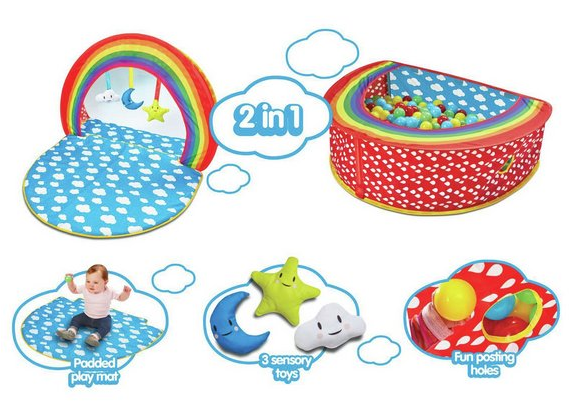 Chad Valley Rainbow 2-in-1 Baby Gym & Ball Pit £14.99 @ Argos