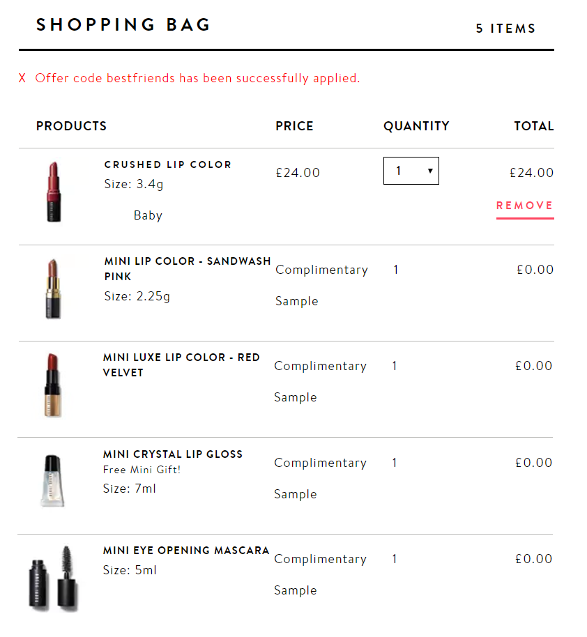 (UF) Offer Stack: 4 Free Gifts When You Buy A Lipstick @ Bobbi Brown
