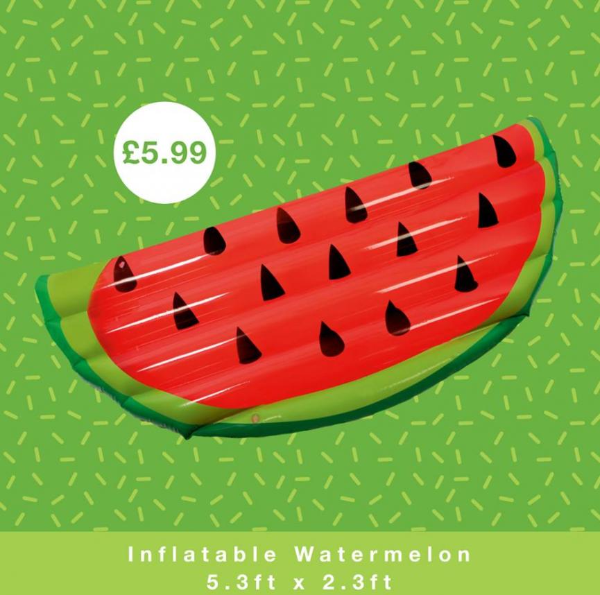 Mermaid / Fruit Giant Pool Inflatables £5.99 @ Home Bargains
