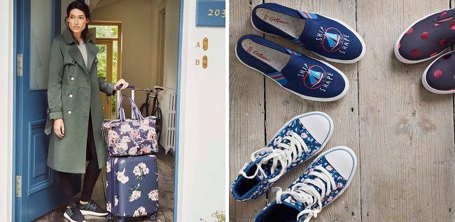 Cath Kidston luggage and Cath Kidston footwear