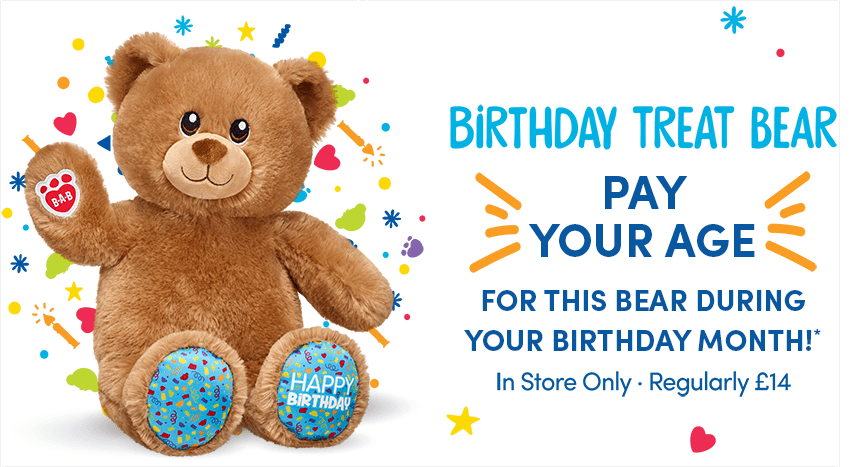 (UF LISA HOL) Pay Your Age On Your Birthday @ Build-a-Bear