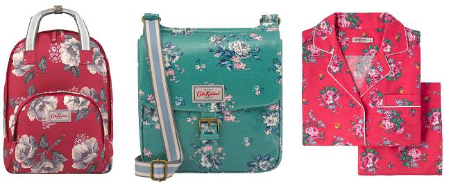 Cath Kidston backpack, crossbody bag and pyjamas