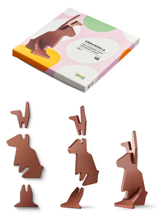 Ikea Is Selling A Flat-Pack Chocolate Easter Bunny!