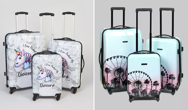 26ae45fbe Unicorn suitcases and Sunset Festival suitcases from Matalan