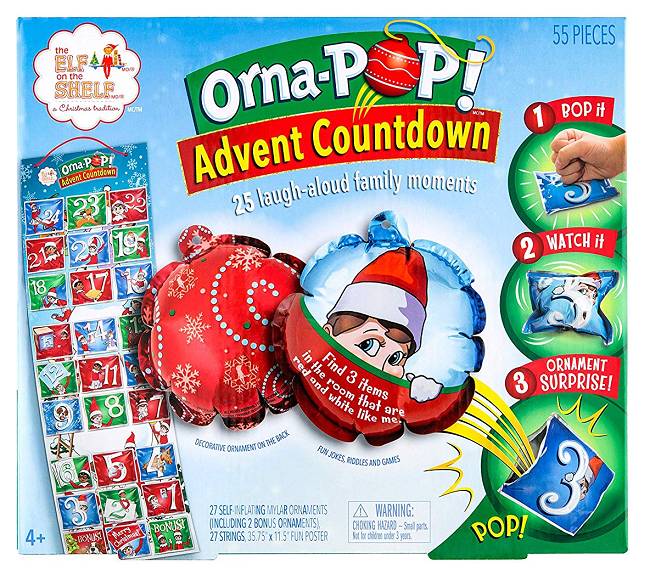 Elf On The Shelf Orna-POP Countdown Advent Calendar 2019