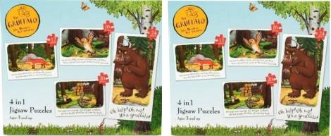 Paul Lamond Gruffalo 4-In-1 Puzzle £3.79 @ Amazon